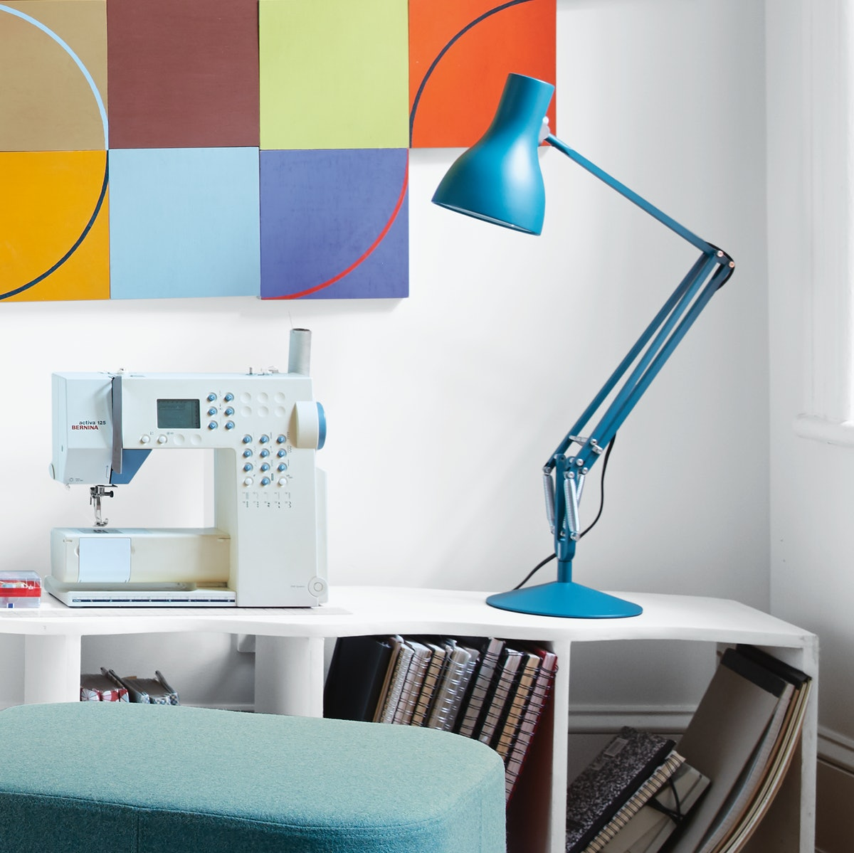 Type 75 Task Lamp with USM Haller Closed Storage Credenza