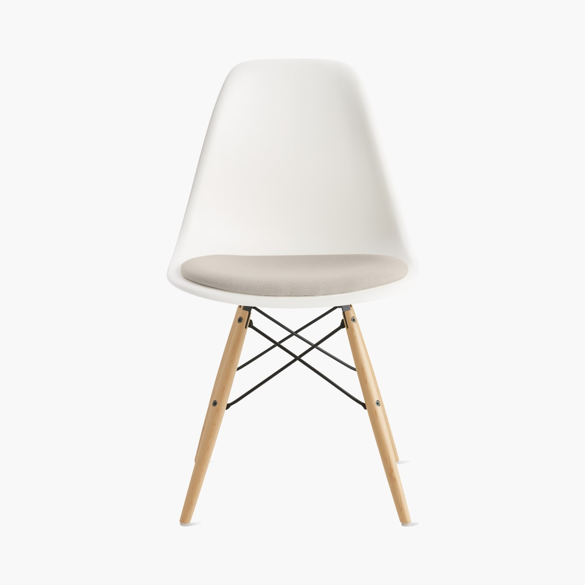 Eames Molded Plastic Side Chair with Seat Pad