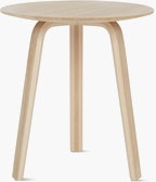 An oak Bella Side Table viewed from the front