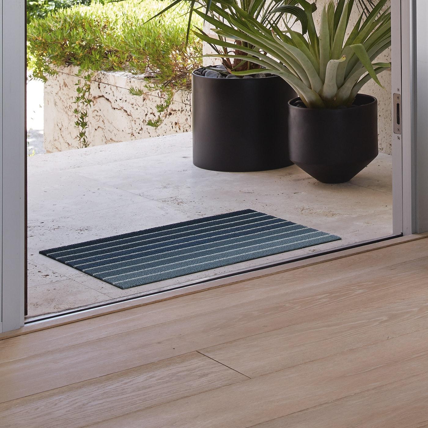 Chilewich Block Stripe Shag Mat Doormat