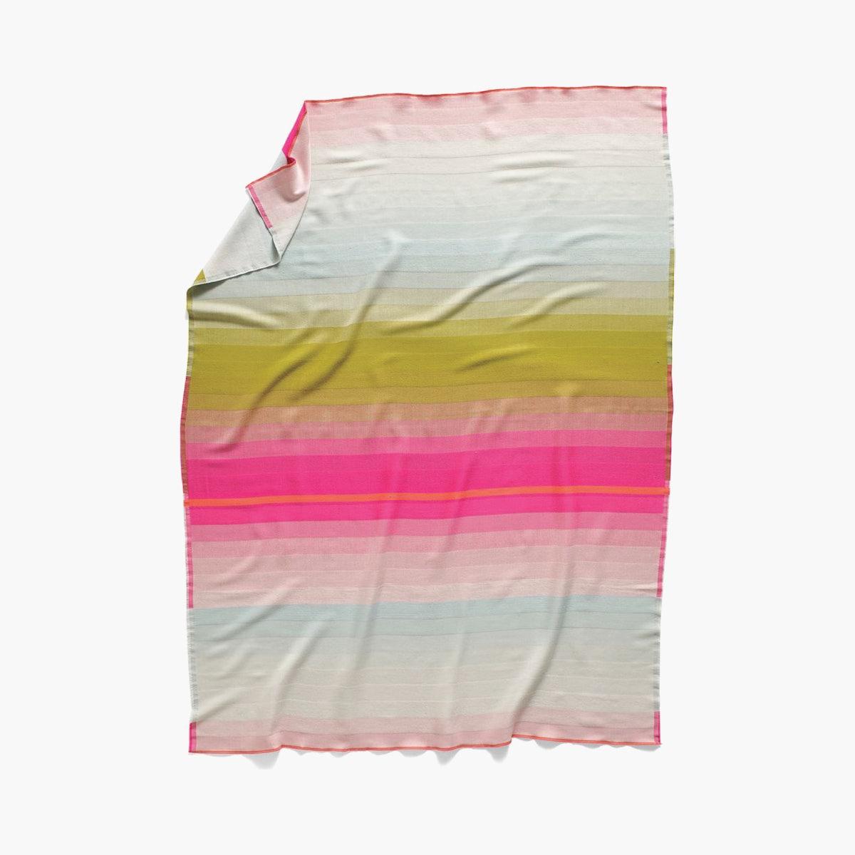 Color Plaid Throw