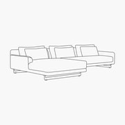 Left Facing Chaise