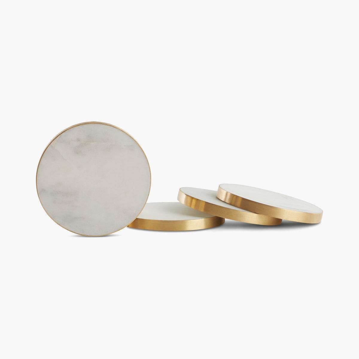 Simple Marble Coasters - Set of 4