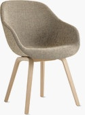 AAC 123 About A Chair Upholstered Armchair Wood Base