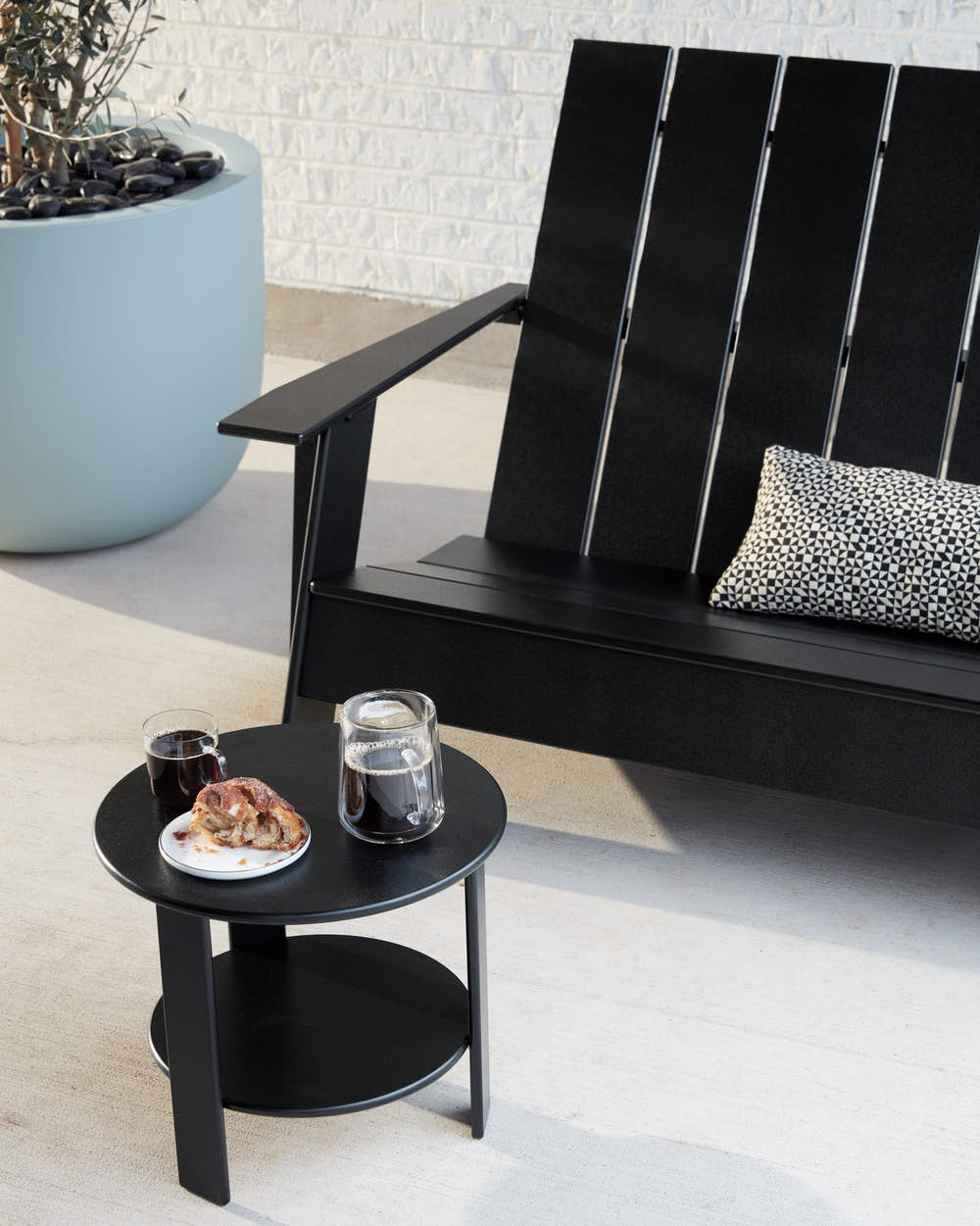 Adirondack Two Seater Bench with Lollygagger Side Table