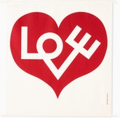 A Girard Environmental Enrichment Panel in Love Heart pattern.ck and White.