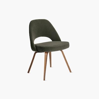 Saarinen Executive Side Chair with Wood Legs