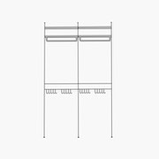 """Deluxe/Purse and Shirt/Simple - 2 Bays - 24"""" Wide Shelves"""