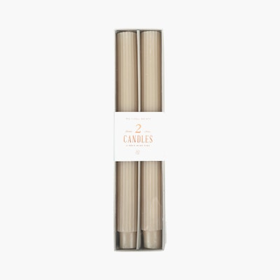 Ribbed Taper Candle, Set of 2