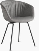AAC 27 Soft - About a Chair - Upholstered Armchair Metal Base