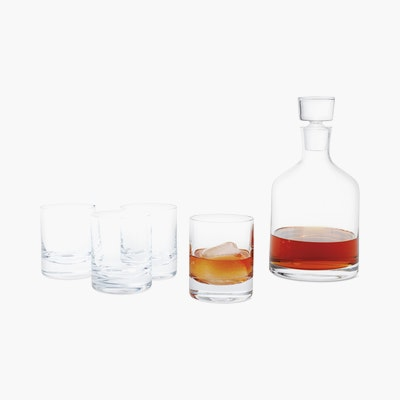 Bar Decanter and Tumbler Set