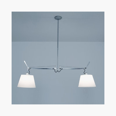 Tolomeo Double Suspension Ceiling Lamp