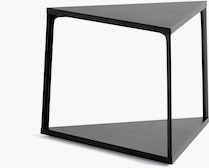 A front view of a black Eiffel Side Table.