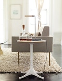 Nelson Pedestal Side Table