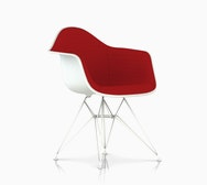 Eames Upholstered Molded Plastic Armchair - Wire Leg - DAR.U