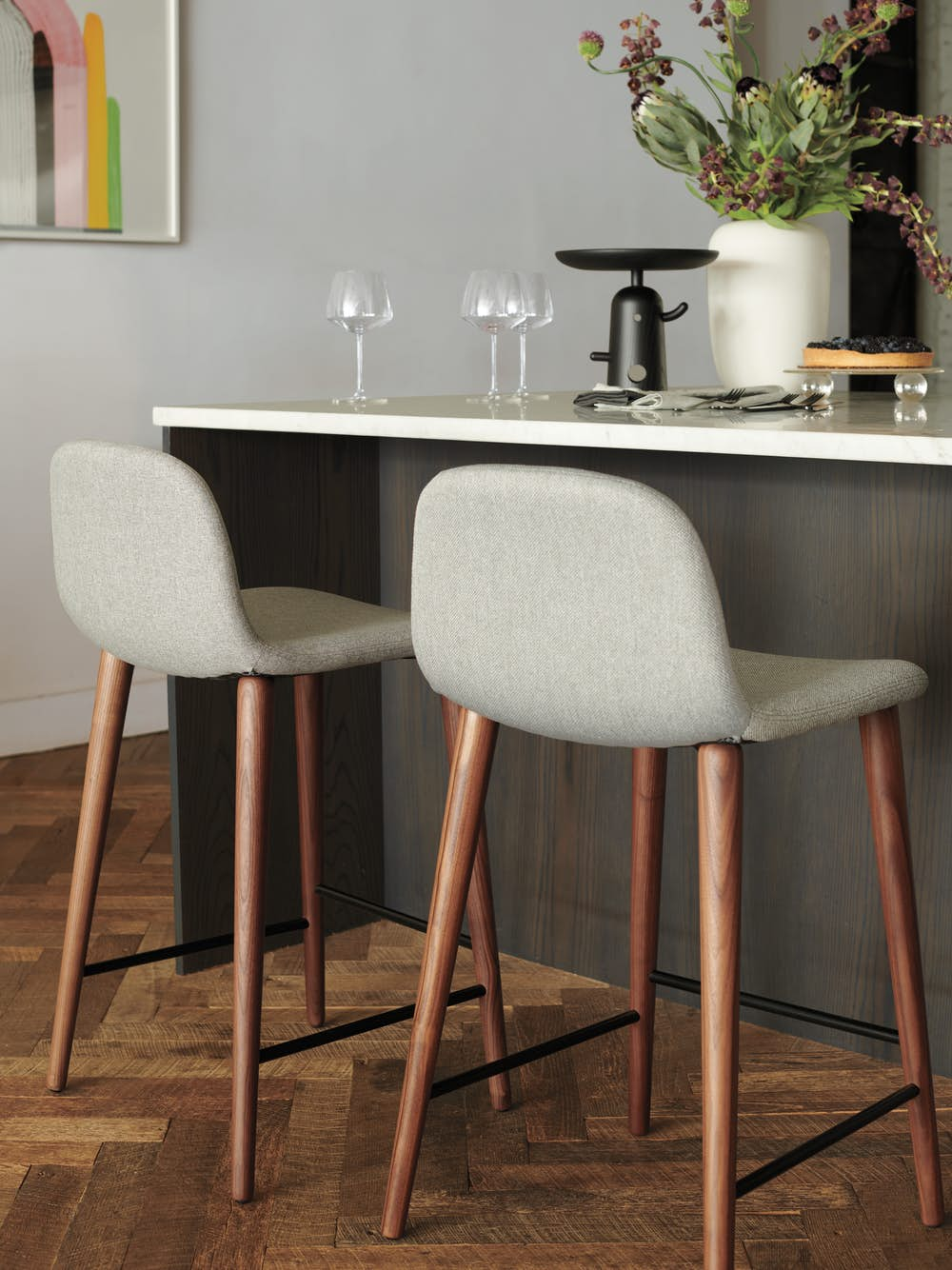 Bacco Counter Stool in Duet in kitchen