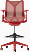 A canyon Cosm Stool with height-adjustable arms.