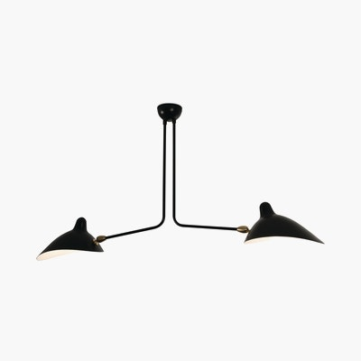 Serge Mouille Two Arm Ceiling Lamp