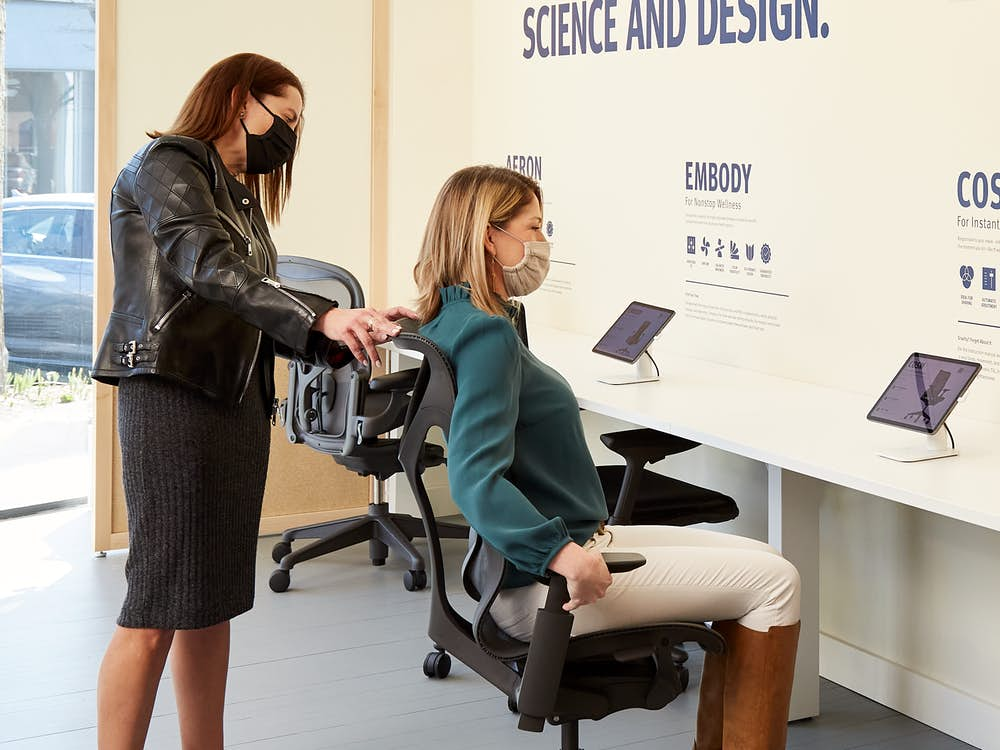 Herman Miller Greenwich Seating Store Chair Fitting