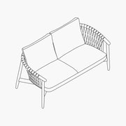 Crosshatch Settee