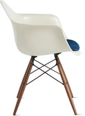 Eames Molded Fiberglass Armchair with Seat Pad