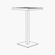 Eos Pedestal Bar-Height Table
