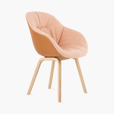 AAC 123 Soft Duo - About A Chair - Upholstered Armchair Wood Base