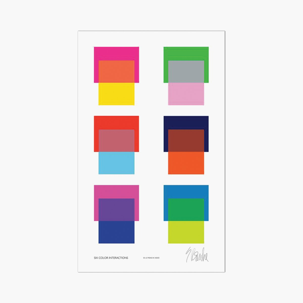 """Six Color Interactions"" by Liz Roache"