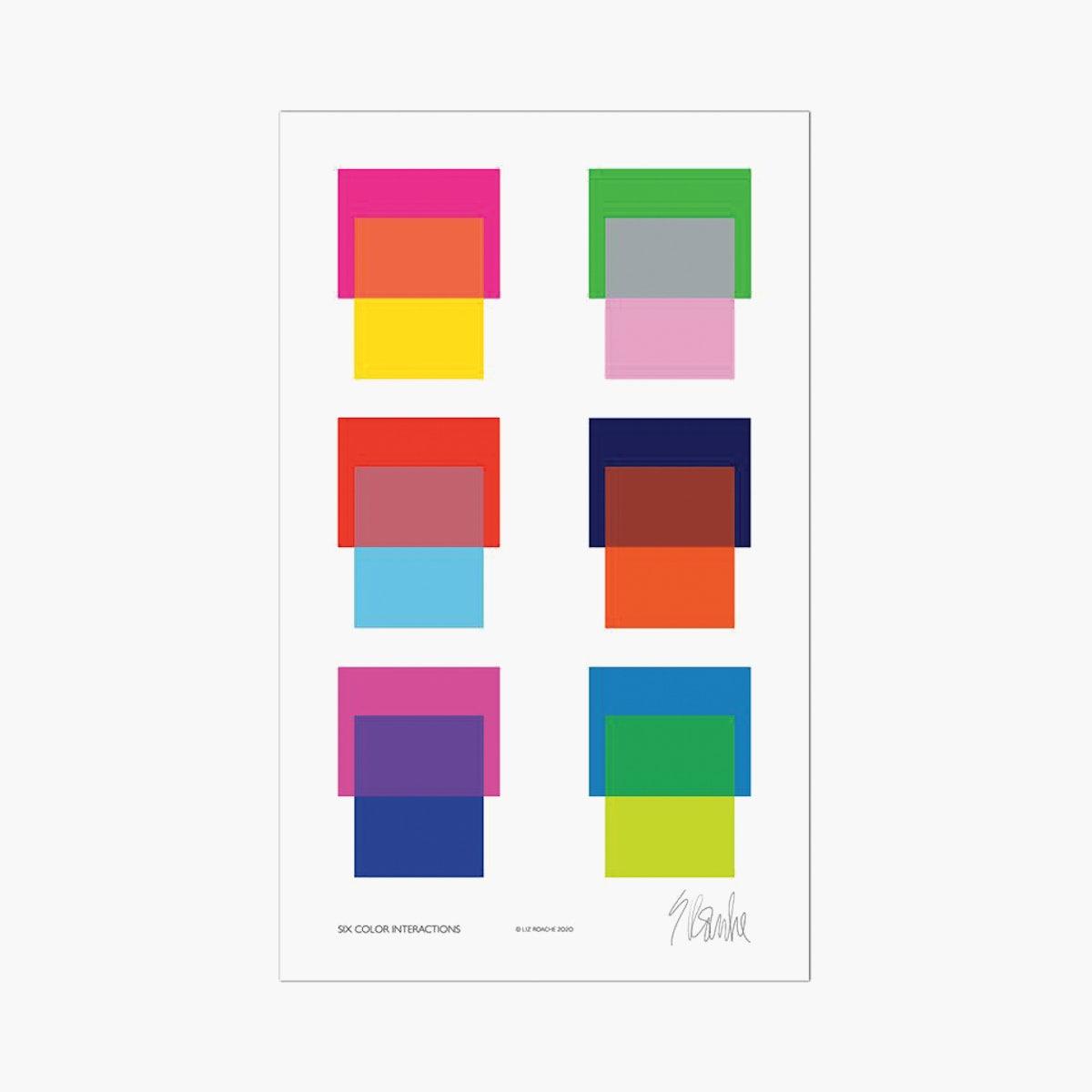 """Six Color Interactions"" by Liz Roache"