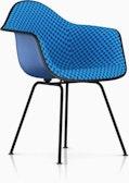 Eames Upholstered Fiberglass 4-Leg Armchair