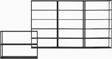 New Order Set - Low Single Bookshelf and High Triple Bookshelf