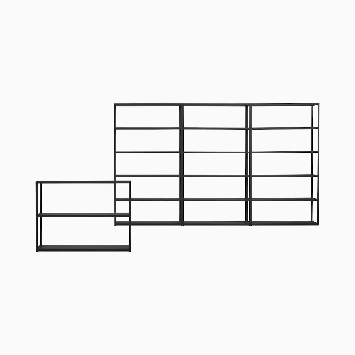 New Order Set - Low Single Bookshelf + High Triple Bookshelf
