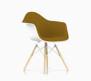 Eames Upholstered Molded Plastic Armchair - Dowel Leg