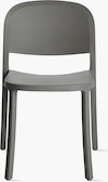 """A dark grey 1"""" Reclaimed Chair viewed from the front"""""""
