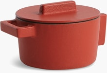 Terra Cotto Small Round Saucepot with Lid