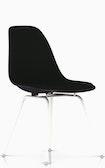 Eames Upholstered Fiberglass 4-Leg Side Chair