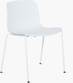 A white About A Chair 16 Side Chair viewed from an angle