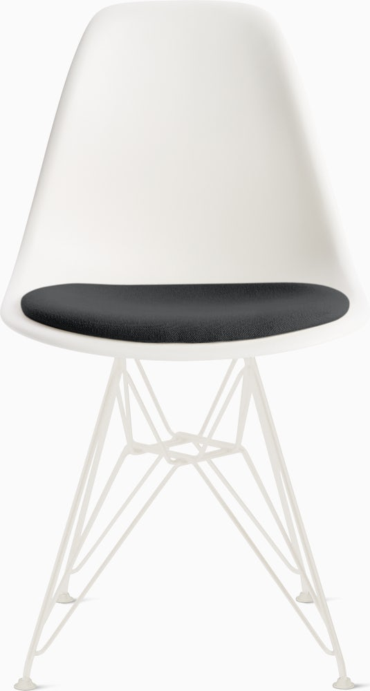 Eames Molded Plastic Side Chair With, Eames Side Chair Pad