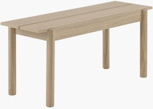 Linear Wood Bench,  110cm