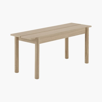 Linear Wood Bench,  110cm