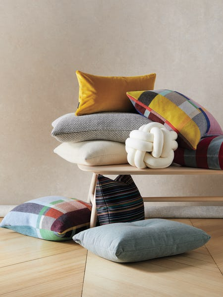Knot Cushion and assorted pillows