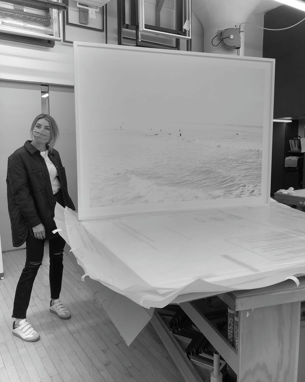 Cas at the framer with a DWR exclusive - SURF no.28
