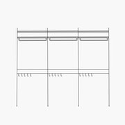 "Deluxe/Purse and Shirt/Simple - 3 Bays - 32"" Wide Shelves"