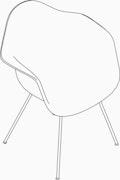 Eames Upholstered Molded Plastic Armchair - 4-Leg Base