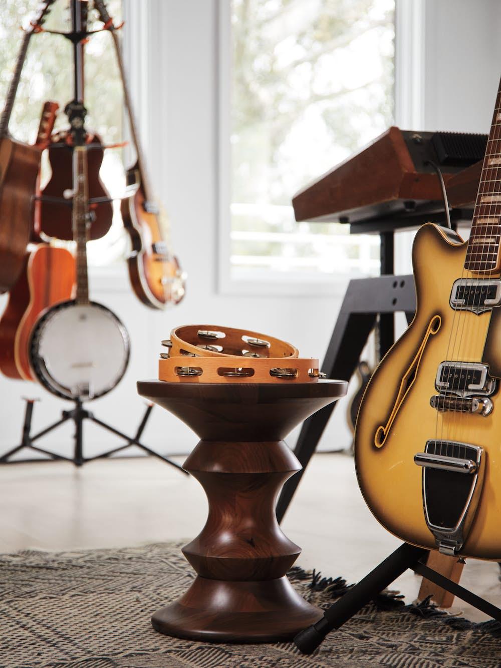 Eames Walnut Stool in Rostam's Studio