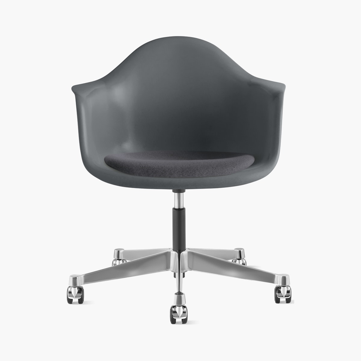 Eames Task Chair with Seatpad, Molded Fiberglass Armchair