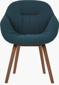 AAC 123 Soft Mono - About A Chair - Upholstered Armchair Wood Base