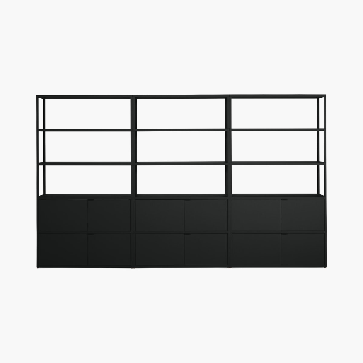 New Order Set – High Single Bookshelf with Double Storage