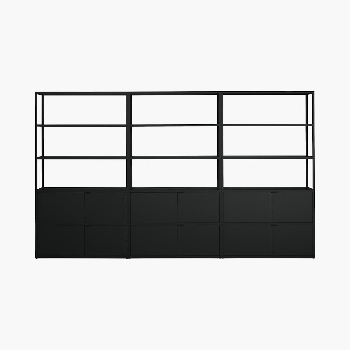 New Order Set – High Single Bookshelf with Double Storage