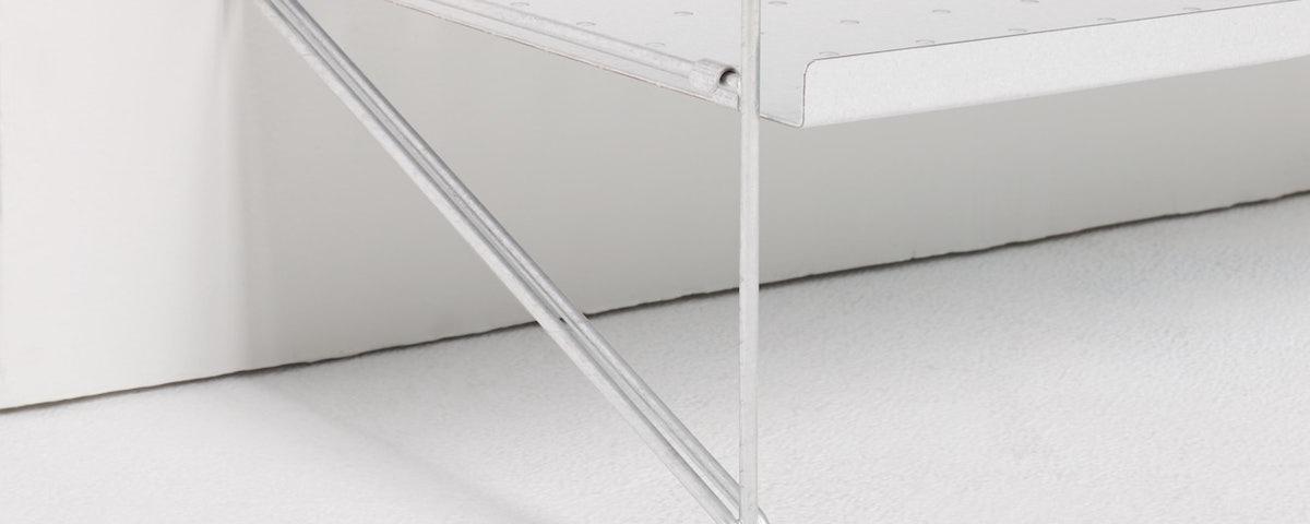 String Galvanized Floor Shelving
